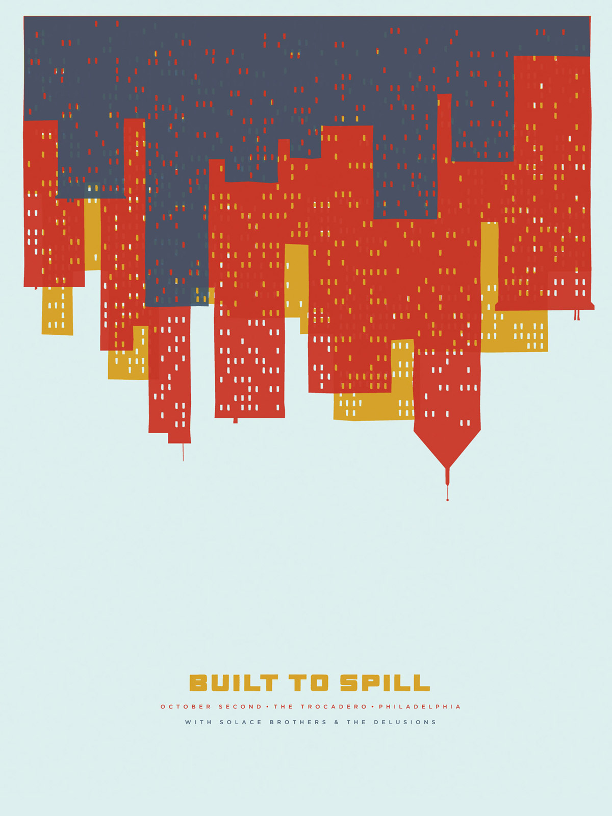Built To Spill Gig Poster - The Heads of State