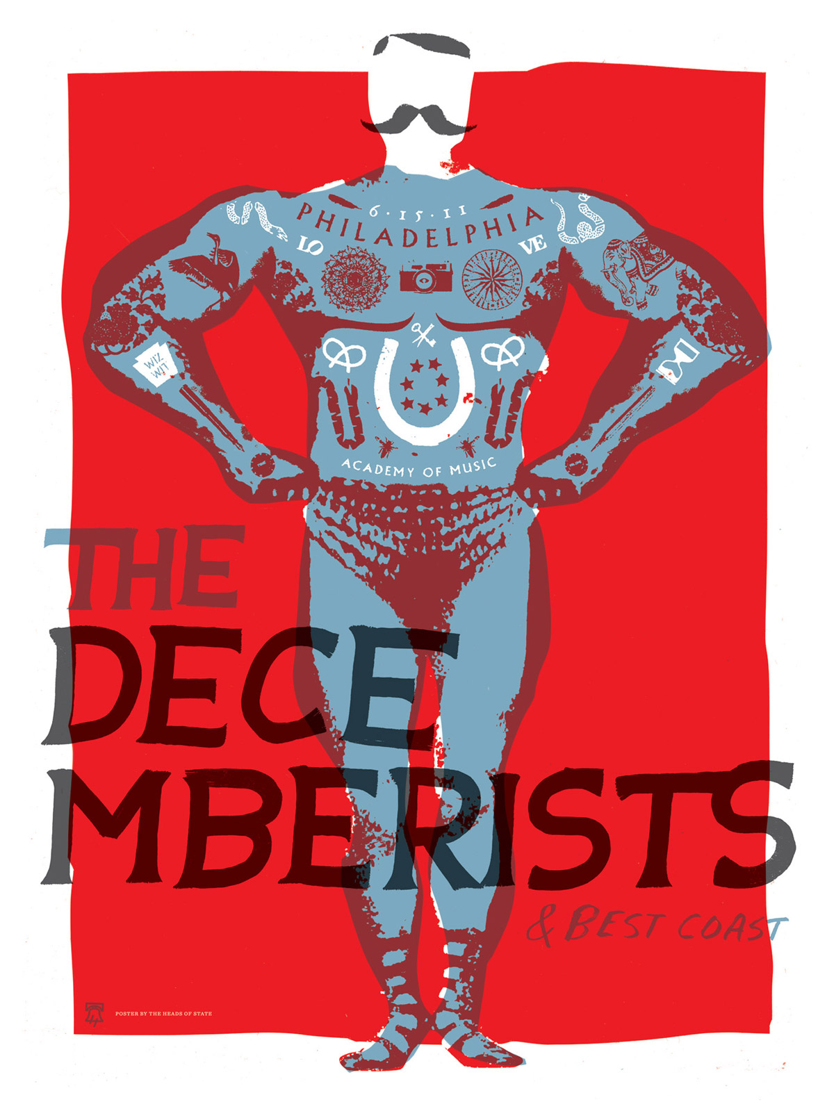 The Decemberists Gig Poster - The Heads of State