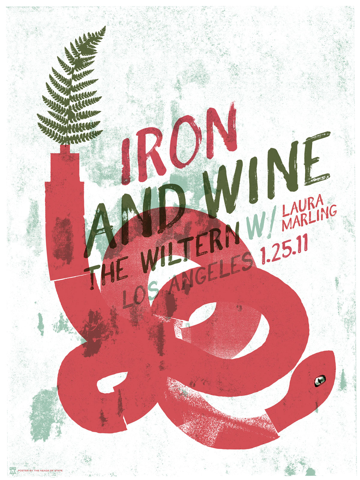 Iron And Wine Gig Poster - The Heads of State