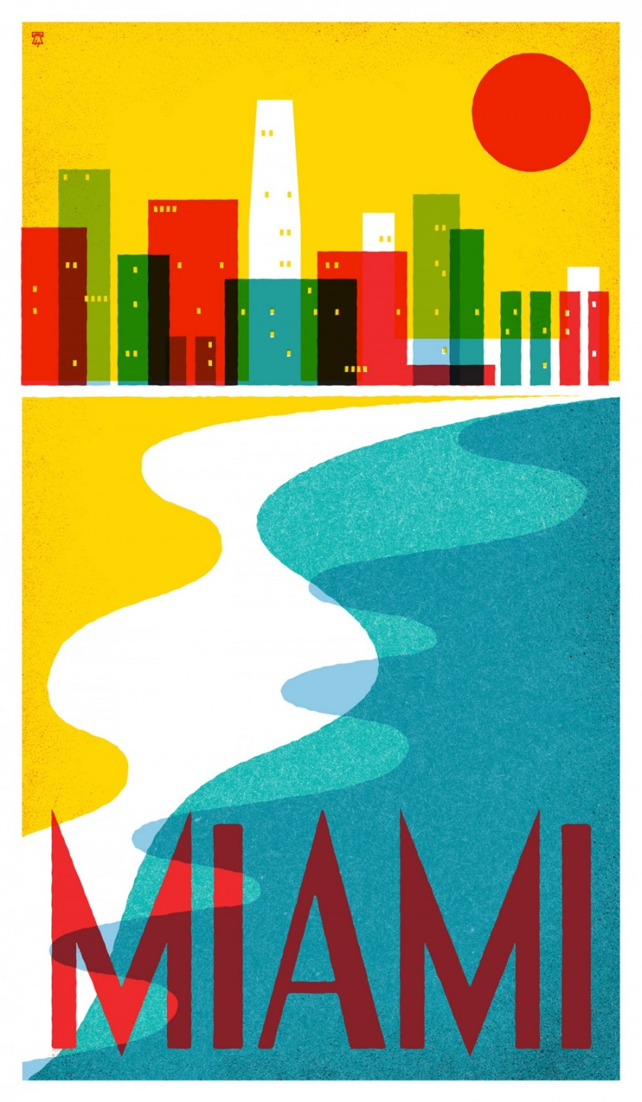 Miami, Florida - Travel Poster Series - The Heads of State