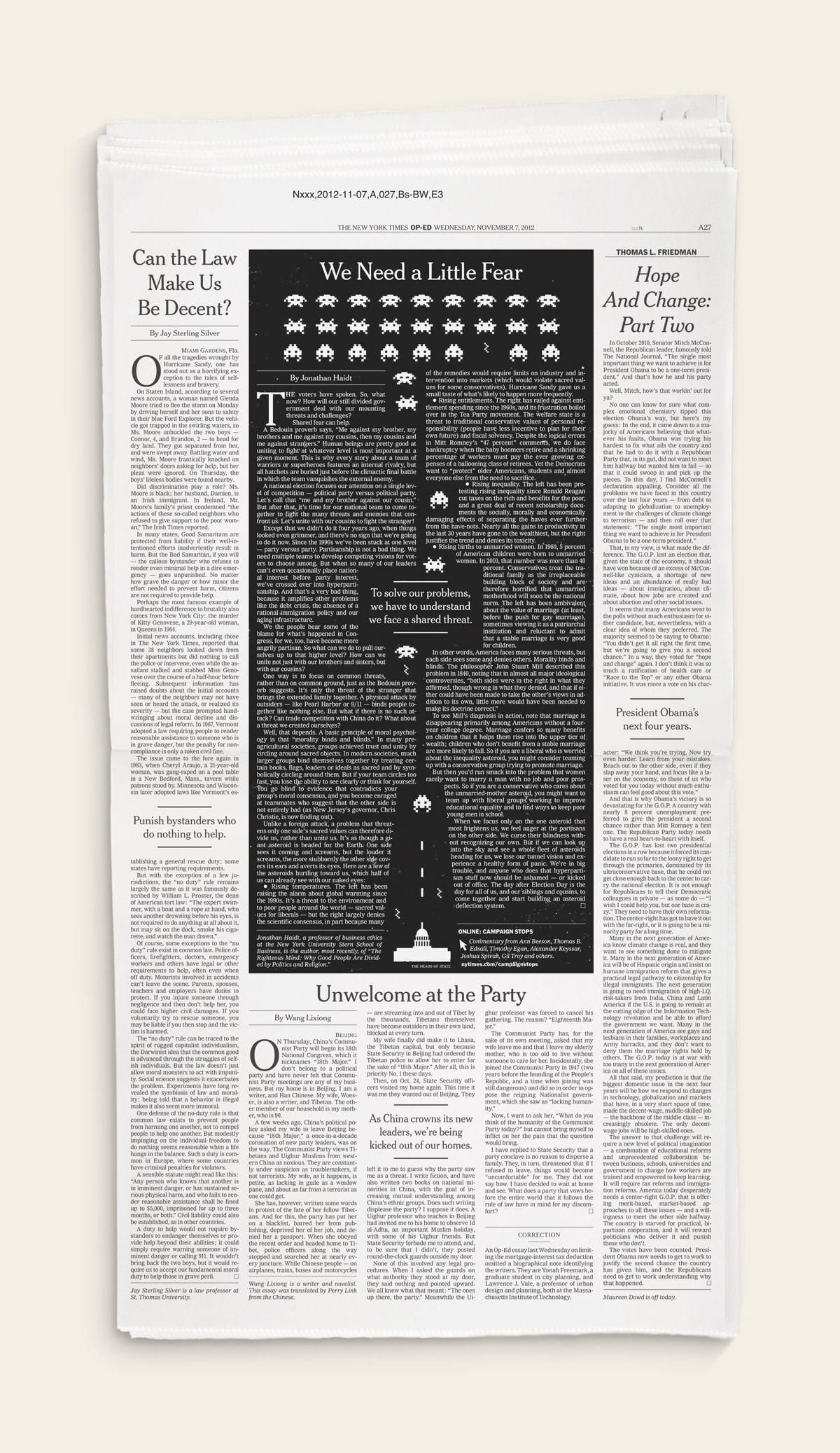 New York Times - The Heads of State