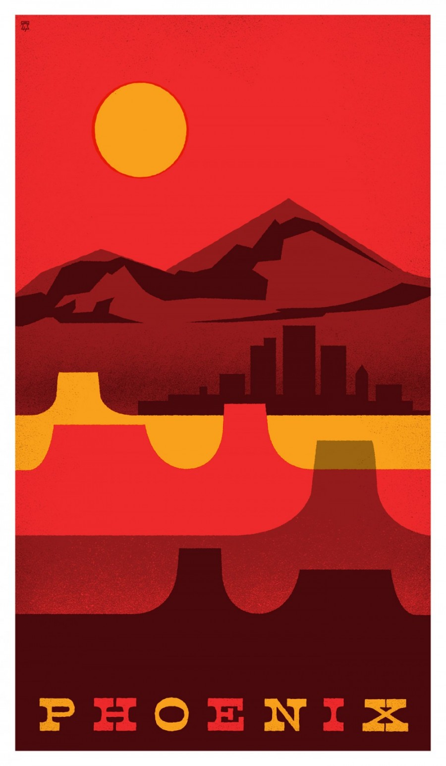 Phoenix, Arizona - Travel Poster Series - The Heads of State