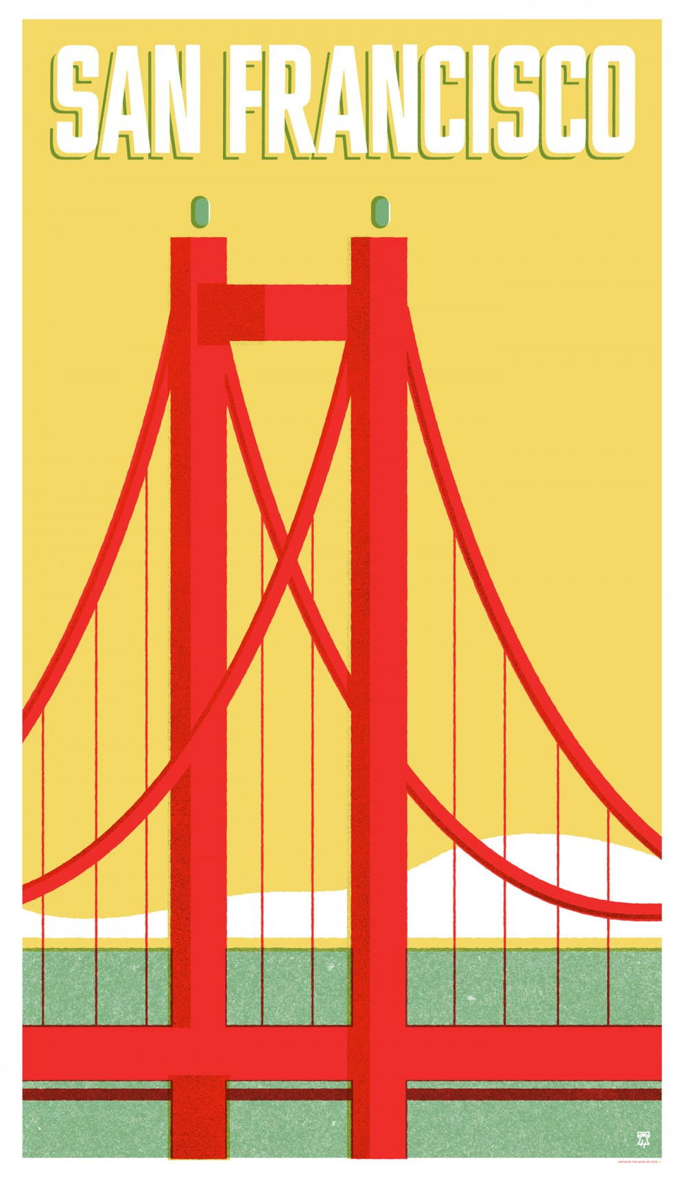 San Francisco, California - Travel Poster Series - The Heads of State