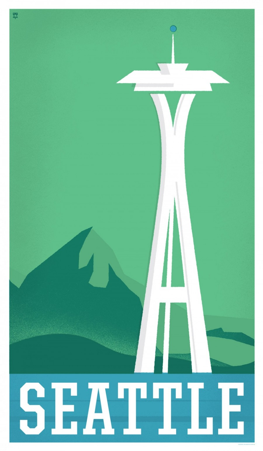 Seattle, Washington - Travel Poster Series - The Heads of State