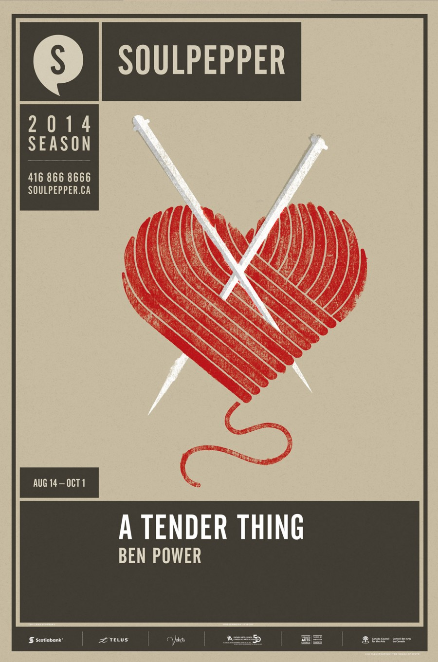 A Tender Thing - Soulpepper Theatre - 2014 Season Poster Series - The Heads of State