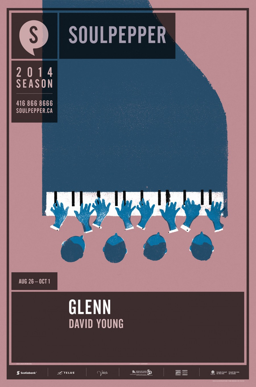 Glenn - Soulpepper Theatre - 2014 Season Poster Series - The Heads of State