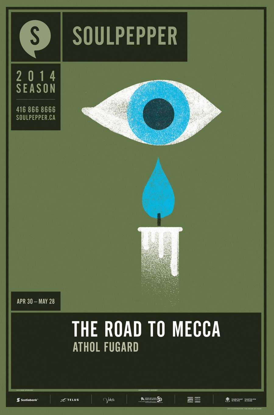 The Road To Mecca - Soulpepper Theatre - 2014 Season Poster Series - The Heads of State