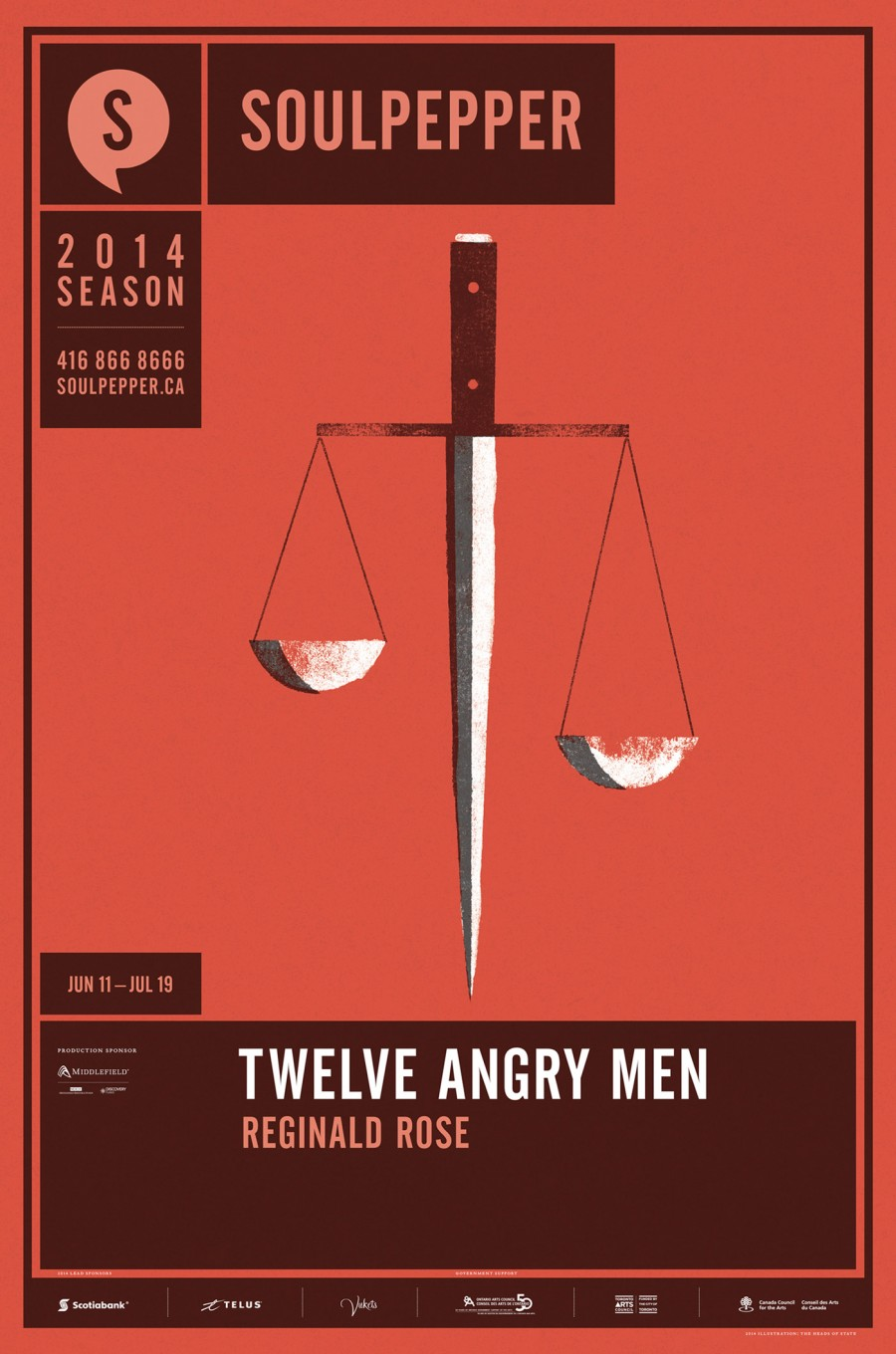 Twelve Angry Men - Soulpepper Theatre - 2014 Season Poster Series - The Heads of State