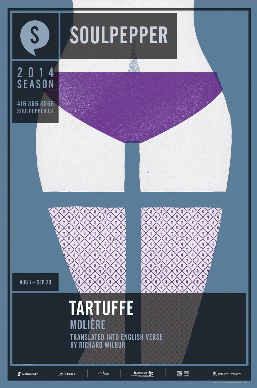 Tartuffe - Soulpepper Theatre - 2014 Season Poster Series - The Heads of State