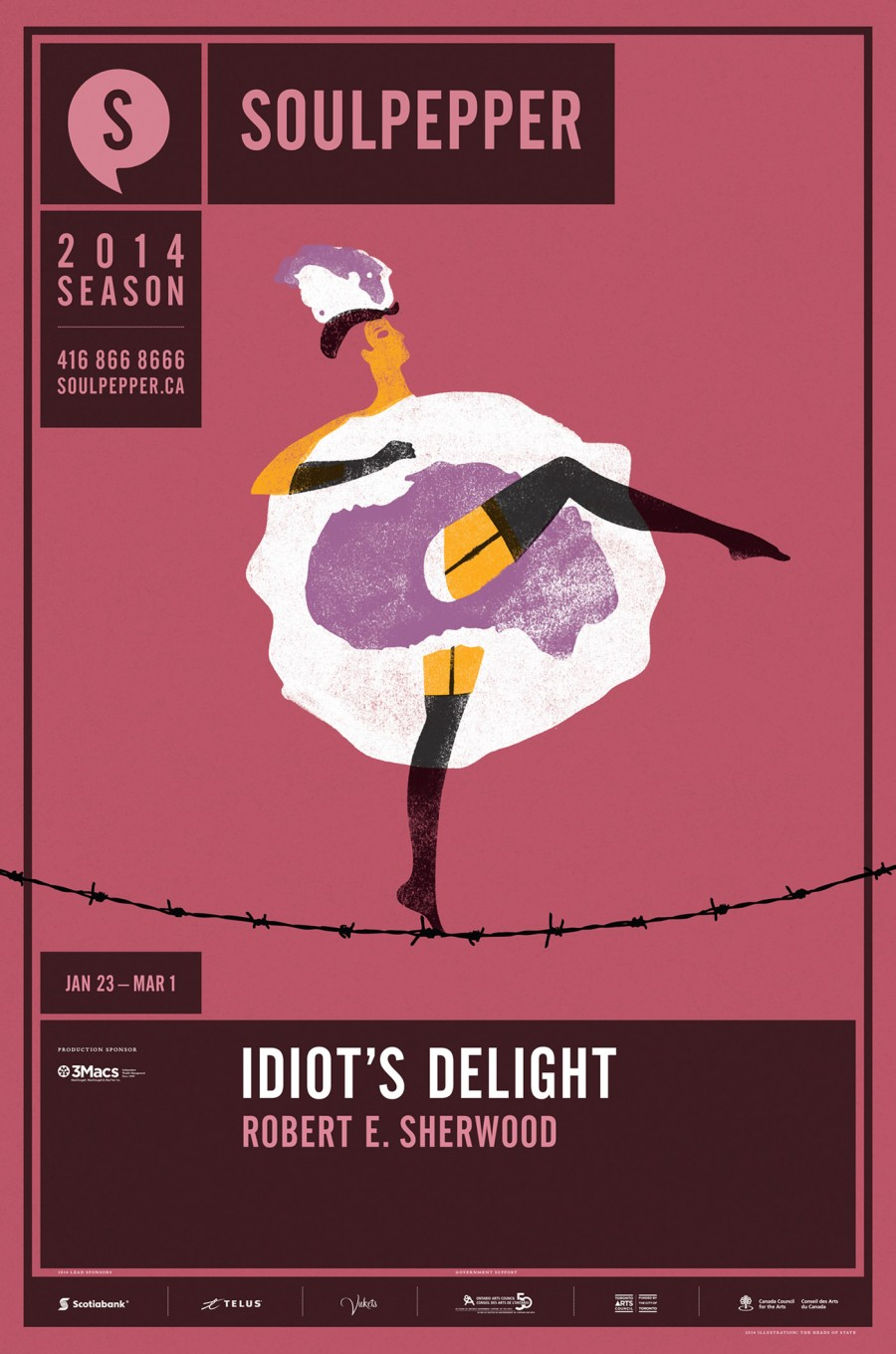 Idiot's Delight - Soulpepper Theatre - 2014 Season Poster Series - The Heads of State