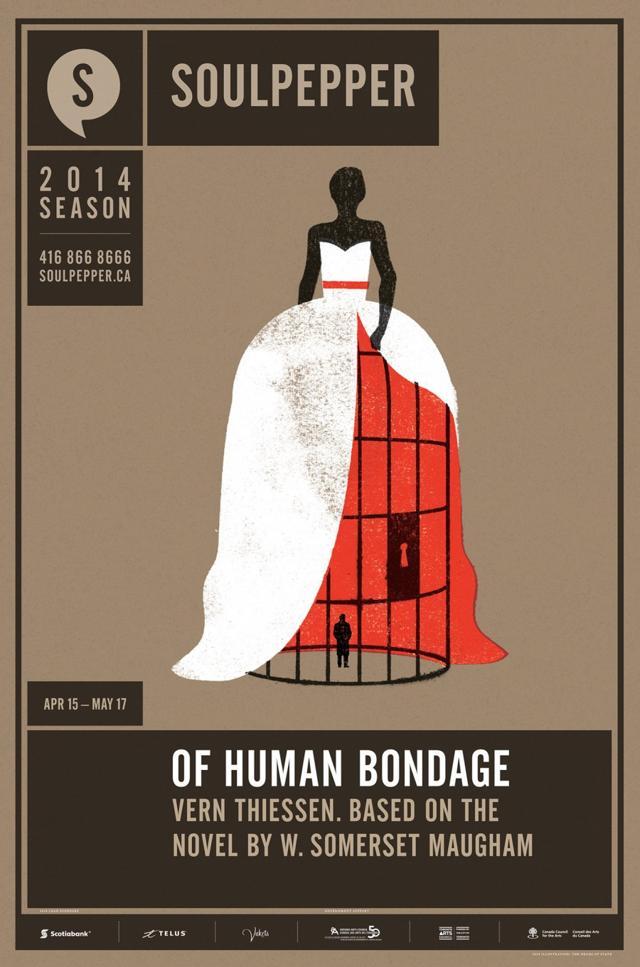 Of Human Bondage - Soulpepper Theatre - 2014 Season Poster Series - The Heads of State
