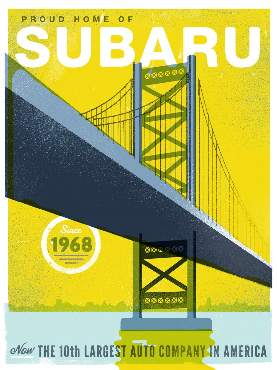 Subaru - Philadelphia Poster Series - The Heads of State