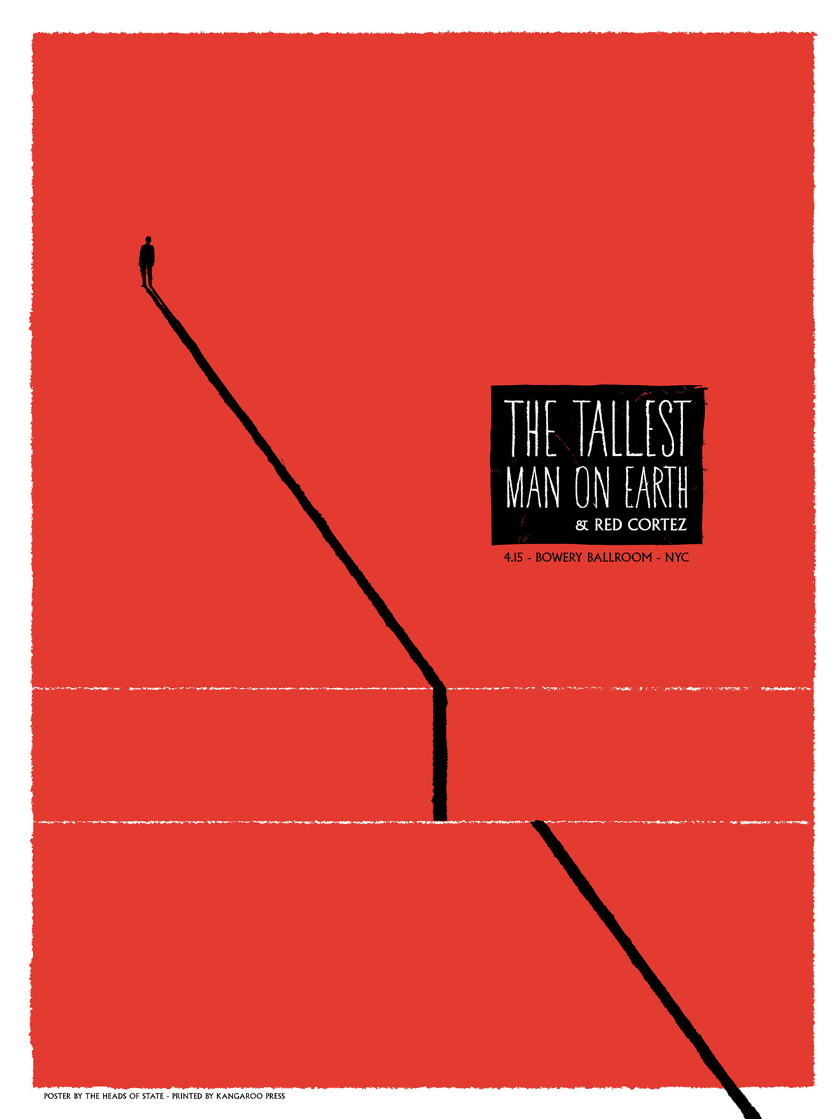 Tallest Man Gig Poster - The Heads of State