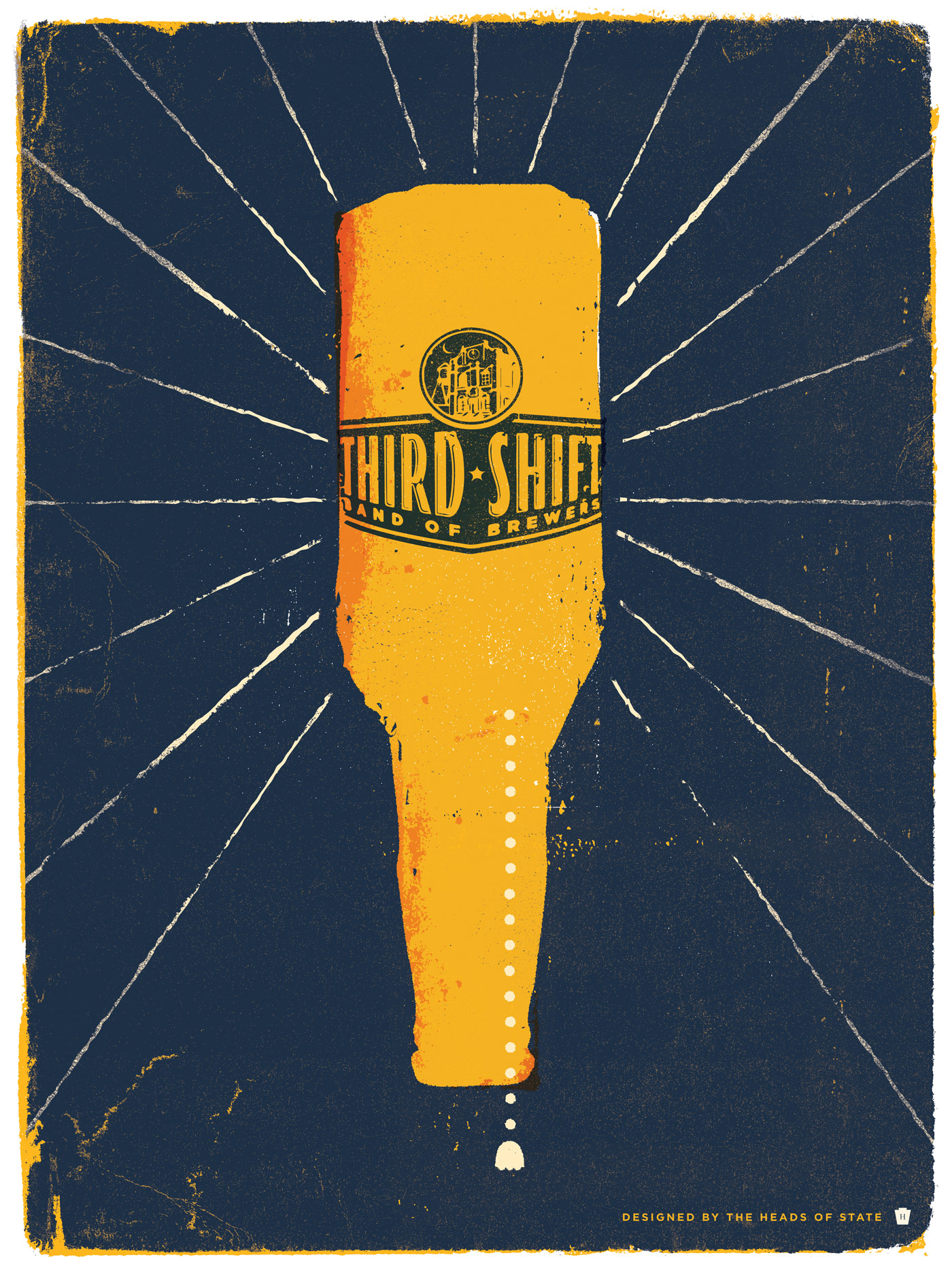 Miller Beer - Third Shift Poster Series - The Heads of State