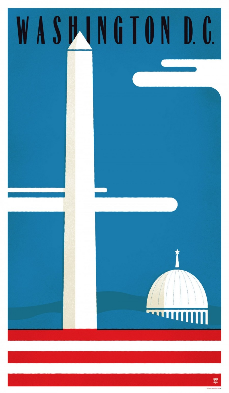Washington, DC - Travel Poster Series - The Heads of State