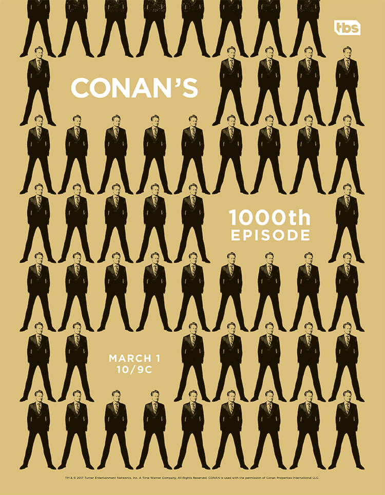 Conan's 1000th Episode poster