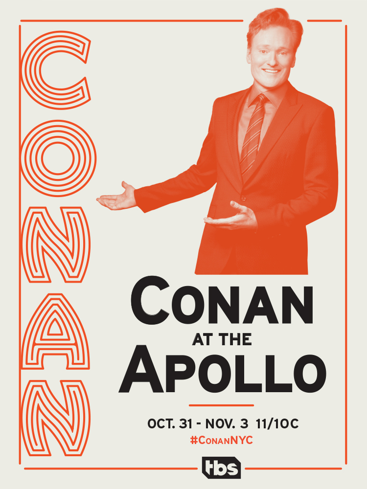 poster for Conan at the Apollo in NYC